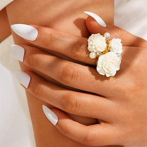 Ring fashion jewelry engagement ring Wedding jewelry Gold Ring For Women Simple Fashion Love Bohemian Jewelry For Women