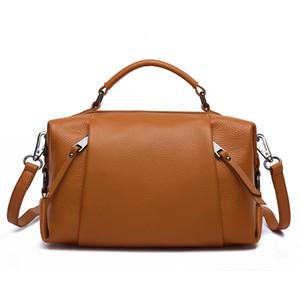 2021 дизайнер новый коровьей верхней бостонской сумки для женских плечевых кошельков и сумочка женские сумки сцепления дамы подмышки сумка