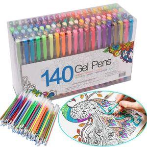 100 Multicolour Ballpoint Gel Highlight Pen Refill Set Colorful Shining Pen Refills School Supplies Chancellory Ballpoint