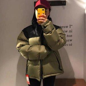 Мода Мужская Пальто спускаемого пальто 20fw Зимние Женские Parkas Теплые буквы Вышивка Узор Ветрозащитный Уровень Высокое Качество Куртка Размер M-2XL 9 Цвет