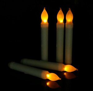 Led Light Cone Candles Electronic Taper Candle Battery Operated Flameless For Wedding Birthday Party Decorations Wholesale
