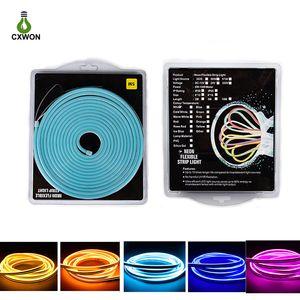Retail Blister Kit LED Neon Sign 2835 SMD 120LED Flex LED Neon b cvnmg Strip Rope Light DC12V Waterproof IP65 Advertising Decor