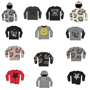 Kids T Shirts 2021 New Spring Summer NX Brand Design Boys Girls Skull Print Long Sleeve Top Baby Children Cotton Fashion Clothes 210302
