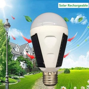 Rechargeable Solar Led Bulb E27 7W 12W 85V-265V Solar Powered Outages Emergency Bulb Camping Hiking Fishing Outdoor light