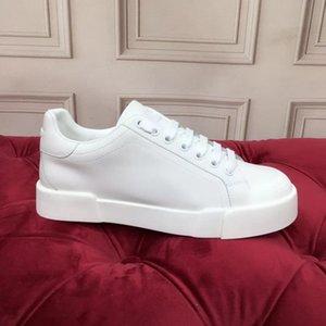 Новые спортивные туфли дизайнерские кроссовки кожаных цветов соответствия кружева женские белые бегая серия простая мода удобная мягкая беглый досуг магазин размером 35-41