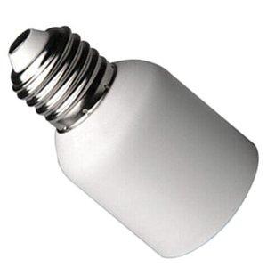 E27 para E40 Medium Light Adaptador Acessórios Plásticos Tomada Branca Casa LED Titular Lâmpada Conversor Frente à Prova de Frente Base Lightweight