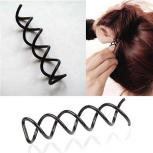 12pcs Ferramentas de estilo de cabelo Ferramentas Craiders SpiRal Spin Parafuso Pin Clipes de Cabelo Twist Barrete Hairpins Acessórios Cabeleireiros Cabelo Clipes de Cabelo Vtky2135