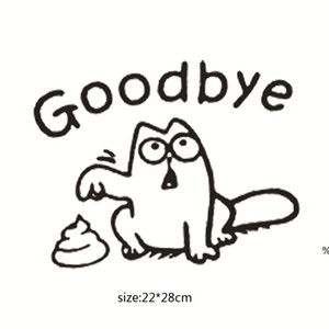 Goodbye Toilet Stickers Vinyl Stickers Waterproof Wall Decals For Mall WC Sticker Home Decor Decal Mural EWF4975