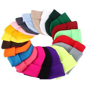 New Winter Hats For Woman Warmer Beanies Knitted Fluorescent Hat Girls Bonnet Ladies Casual Cap Autumn Female Bea jllDVF