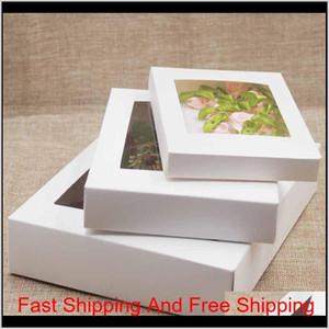 화이트 블랙 크래프트 종이 상자 창 선물 상자 케이크 포장 결혼 생일 선물 패키지 상자 wi jllmwr soif