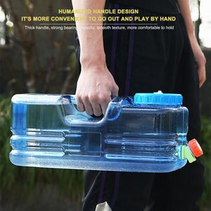 5.5L 10L Capacity Outdoor Water Bucket Portable Cube Water Tank Container with Faucet for Outdoor Camping Picnic Hiking