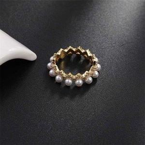 Factoryqre8Crystal Pearl Женский бриллиант простой набор моды индекс пальца головы кольцо