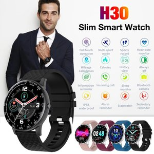 H30 Smart Watch Wristbands bracelet Men Women Full Touch Fitness Tracker Heart rate Blood Pressure Clock IP68 Waterproof + Retail Box
