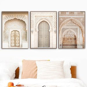Paintings Moroccan Door Print Gallery Wall Prints Boho Style Arabic Posters And Art Pictures Islamic Living Room Home Decor