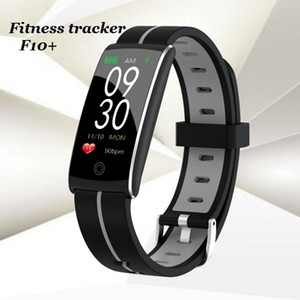 New dual 0.96 color screen F10 + Intelligent bracelet, waterproof heart rate and blood pressure sleep monitoring step movement