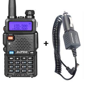 워키 토키 Baofeng UV-5R 차량용 충전기와 블랙 2 웨이 라디오 136-174MHz 400-520MHz 휴대용 트랜시버