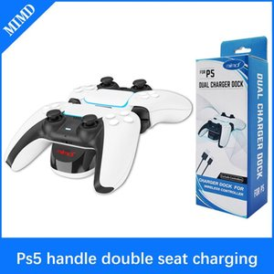 SND-468 Gamepad For PS5 Dual Charging Station Vertical Charging Base Console Controller USB Charger Accessories