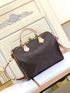 Casual Large classic Handbags style leather canvas letter brown black Flower woman Ladies Tote