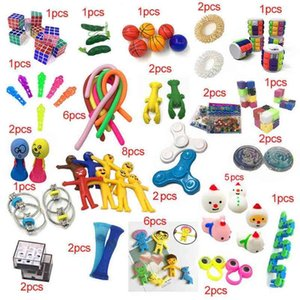 51pcs bag Christmas Halloween TPR Noodle Rope Fidget Toys Push Poppers Bubbles Decompression toy Children's Fashion Board Game Gifts G986PDX