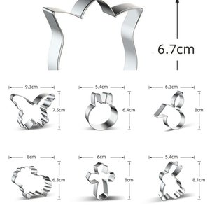 Mold Easter Cookie Animals Element Cutter Rabbit Sheep Shape Food Grade Baking Mold Stainless Steel Animals Cake Mould Bakware DWF3445 PY30