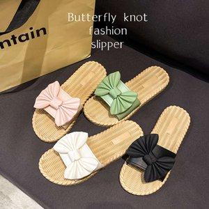 sandals women's summer bows versatile outdoor wear indoor bathroom bath skid flip flops
