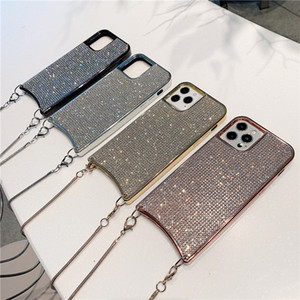 DHL-Cell Phone Cases Crossbody Handbag Cases Rhinestone For Apple iphone 12 promax xr Cell Phone Accessories