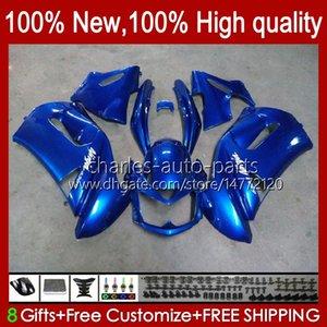 Bodys Kit For KAWASAKI NINJA 650R ER6 F 650 R ER 6 F ER6F blue glossy 06 07 08 29HC.36 650R-ER6F ER-6F ER 6F 2006 2007 2008 Full Fairings