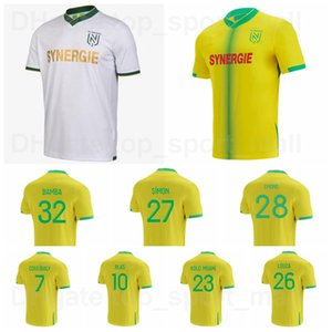 2020 2021 Nantes Futbol Jersey 26 Louza 3 GIROTTO 8 COCO 10 BLAS 27 SIMON 7 COULIBALY 19 TOURE Abeid Futbol Gömlek Kitleri