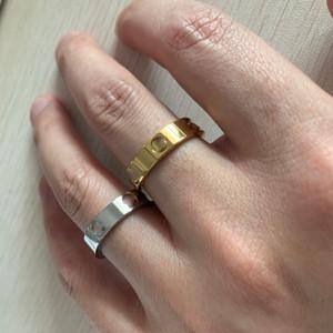 2021 Niemals klassischen 6mm 18 Karat Rose Gold Silber 316L Titan Stahl Frauen Männer Eheringe Ringe Diamant Liebe Ringe Für Feinliebhaber Schmuck
