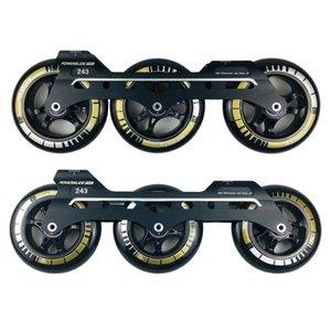 PowerSlide Speed Inline Skates Base 243mm Cadres 3 * 110mm Roues Rouleaux Rouleaux Bassin ILQ-11 Roulement Durable 85A Pneus