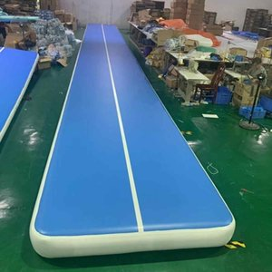 Big Size Air track 10m*1m*0.2m Blue Inflatable Gymnastics Airtrack Floor Tumbling Air Track Kids Adult W One Pump For Home Use Park Water