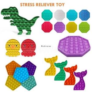 PUSH POPS пузырь сенсорный игрушечный аутизм нуждается в Squishy Light Revievers игрушки для взрослых ребенк забавный антистремистый всплывающий IT FIDGET RESSIVE STACE FY4433