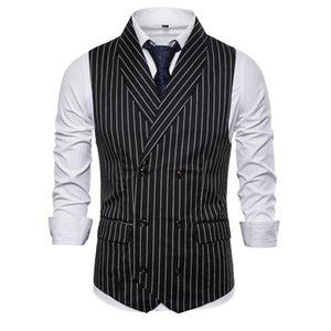 British Style Vest Men Slim Fit Business Mens Dress Vests 2021 New Arrival Herringbone Wedding Suit Male Waistcoat Gilet Homme
