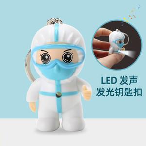 Luminous chaveiros LED som dos desenhos animados mini keychain dia da enfermeira do dia médico anjo em chaveiros chaveiros pingente saco de carro ornamentos 21021802