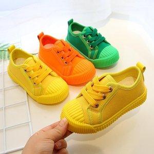 Boys Hanvas Shoes кроссовки для девочек Теннисные туфли на шнуровке Детская обувь для обуви малыш ярко-желтый Chaussure Zapato повседневная Baby1