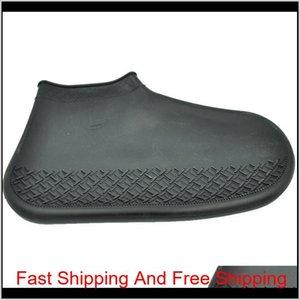 Scarpe da uomo per uomo di design portatile portatile Copertura Galosh Sile scarpe da esterno impermeabile stivali da pioggia non-Qylnvk PPSHOP01