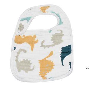 Baby Bibs Handkerchief Saliva Towel Polyester Cotton Newborn Burp Cloths 8 Layers of Cotton Baby Feeding Cloth DHE4889