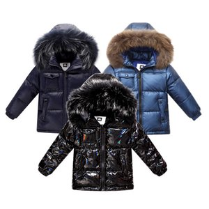 & Unisex winter coat thicken down jacket for boys outerwear clothes 2-14 y children's clothing coats with nature fur parka kids