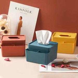 Toilet Paper Holders Tissue Box With 3 Compartments Holder Wipe Case Dispenser Napkin Desktop Multifunction Desk Organizer Storage For Home