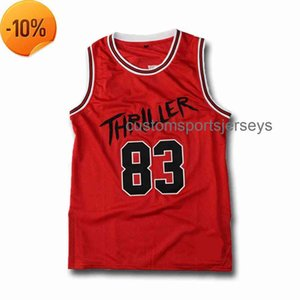 Cosido personalizado Jackson # 83 Thriller Men Basketball Jersey Men Mujeres Mujeres Jersey Jerseys XS-6XL