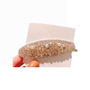 037 New Sparkle hair clip Crystal duck bill clip Women Girls Hair Accessories Beautiful Hair Comb Pin Clips