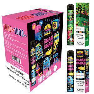 Monster Dual 2 en 1 2000 Puffs Vape vape cigarrillo Peen con 6.0ml Caballero 6 colores disponibles