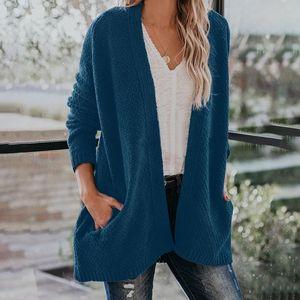 Кардиганские свитера женские свитер вязаный вязаный вязаный рукав вязаный верхняя одежда зима тянуть кардиганов