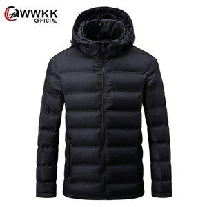2020 다운 자켓 남성 캐주얼 패션 겨울 휴대 성 따뜻한 90 % 화이트 오리 후드 윈드 브레이커 9XL 남자 코트 outwear 의류