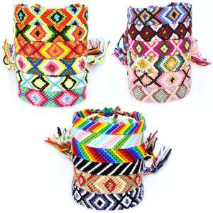 Модная веревка дружба ручной сплетенный браслет с цветной хлопковой нитью