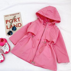 Coat Spring Toddler Girls Coats Kids Windbreakers For Autumn Long Sleeve Children Clothes Teenagers 18M-8 Years