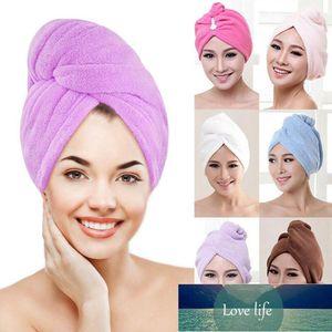 1 adet Mikrofiber Saç Hızlı Kurutma Kurutucu Havlu Banyo Wrap Şapka Kap Türban Kuru Hızlı Kurutma Lady Ev Banyo Aracı