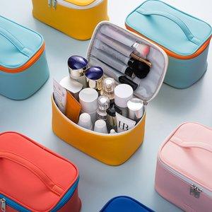Candy Color Travel Maquillage Make Sac Fashion Sac à cosmétiques Organisateur Échantillon Femme Storage Maquillage Cas de toilette Suitcase Sacs à main C0225