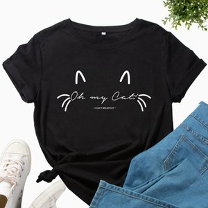 Cross border hot selling women's wear European and American foreign trade printing round neck short sleeve
