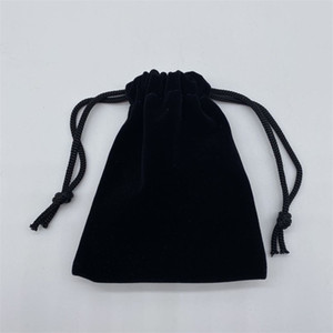 Free Shipping 100pcs lot Black Velvet Jewelry Gift Bags Pouches For Craft Fashion Jewelry Gift 193 U2
